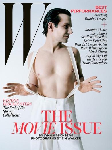 """Bradley Cooper na capa da """"W Magazine"""": Tim Walker, a gente gosta de você, mas a gente não gosta do ator depilado, não..."""