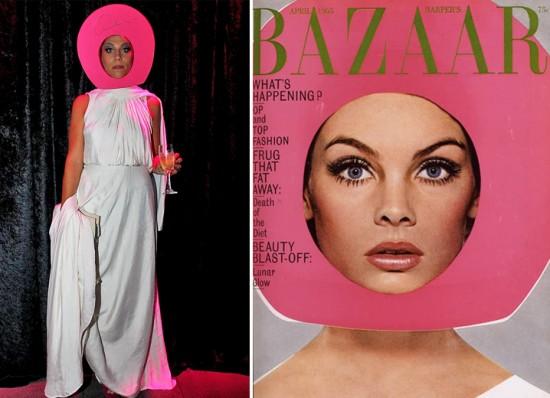 O prêmio de fantasia mais fashionista da noite vai pra Ana Wainer! A stylist se inspirou na icônica capa da Harper's Bazaar com Jean Shrimpton, clicada por Richard Avedon em 1965. O vestido é Lanvin e a adorno da cabeça foi ela quem fez com cartolina e isopor!