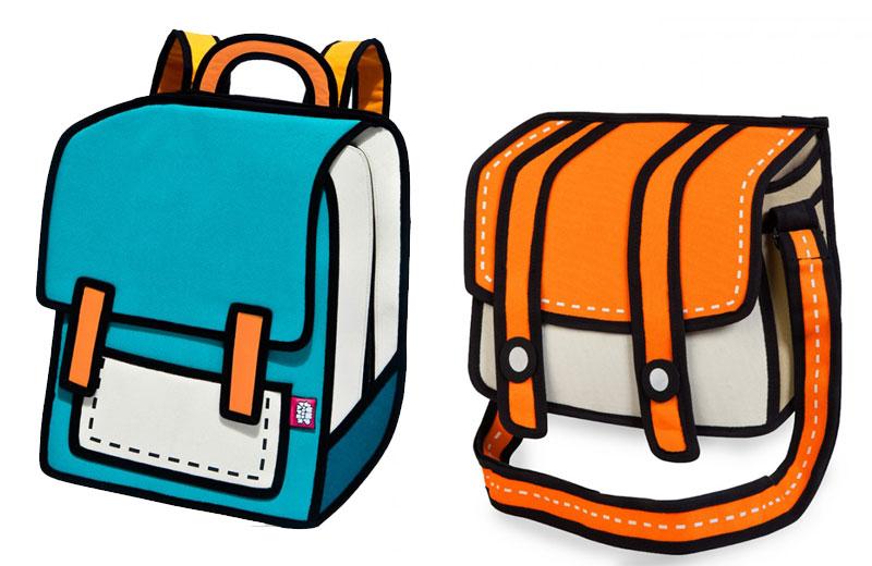 Bolsas que parecem desenho!