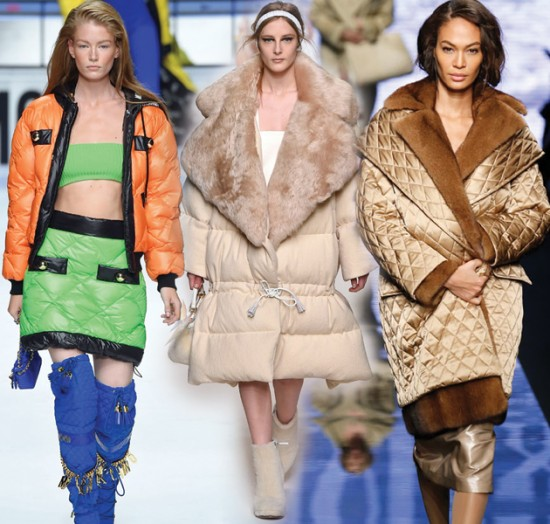 Acolchoados: conforto invernal chega com tudo na Moschino, Fendi, Max Mara e mais... Vem ver!