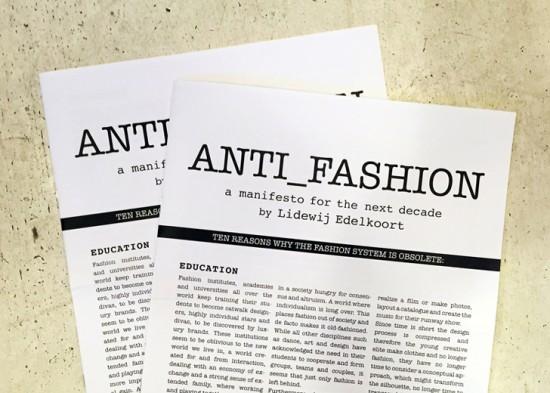 O manifesto: precisamos falar sobre a moda