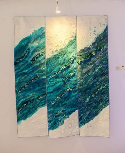 Painel em patchwork de Claudia Dias