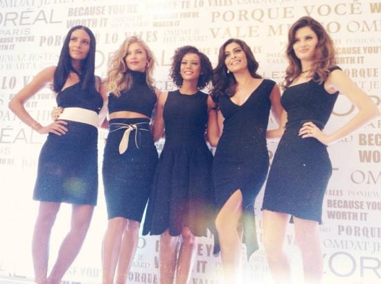 Manu, Grazi, Taís, Ju e Isabeli: timão de embaixadoras da L'Oréal!