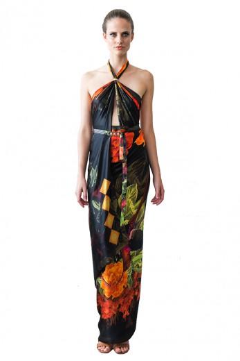 Dá pra fazer vestidos com os lenços maiores da Tropicale - vem ver!