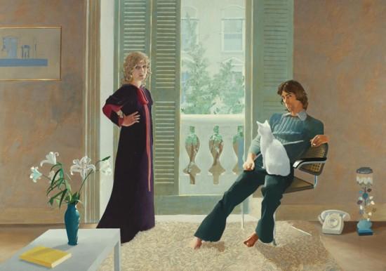 O vestido que Celia usou quando posou ao lado de Ossie Clark pro artista David Hockney está no leilão por quase R$ 40 mil. Vem ver mais looks!