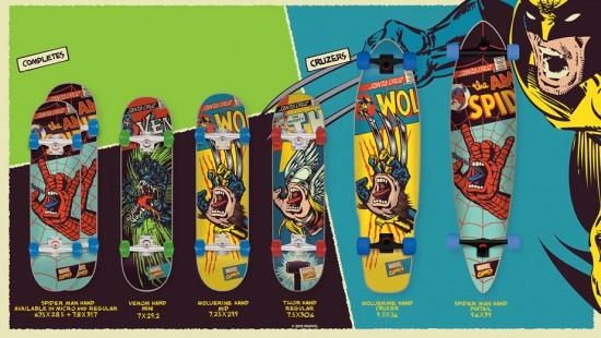 Os skates e longboards da nova parceria da Santa Cruz e Marvel!