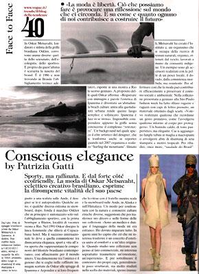 Oskar Metsavaht na Vogue Itália