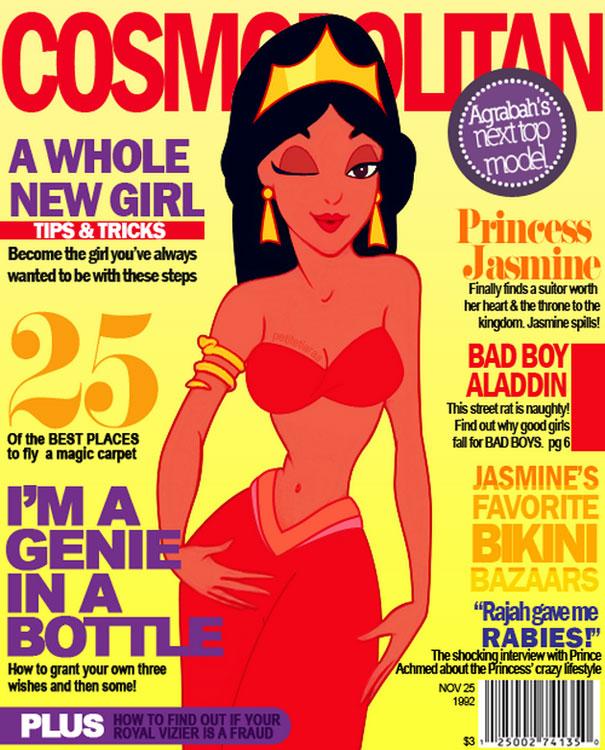 """Cosmopolitan. Princesa Jasmine finalmente encontra um pretendente digno de seu coração e do trono em seu reino"""""""