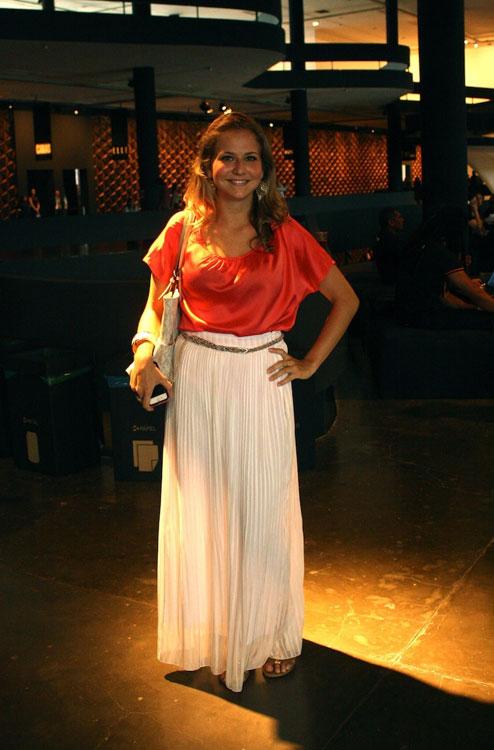 A Alessandra Xavier gosta de roupas mais leves e larguinhas