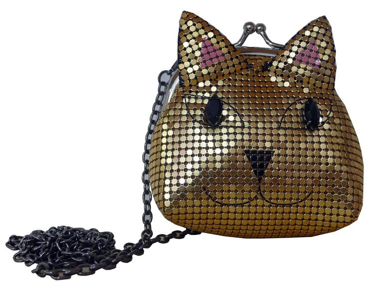 Bolsa Gato dourado (R$ 181,70)
