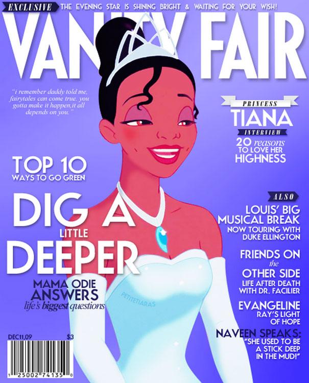 """""""Vanity Fair. Entrevista com a Princesa Tiana: 20 razões para amar vossa alteza"""""""