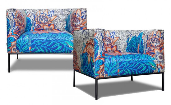 A Printing se uniu à Sava e criou uma linha de móveis! Na foto, a poltrona Dijon (R$ 4.800 cada) - vem ver mais aqui!
