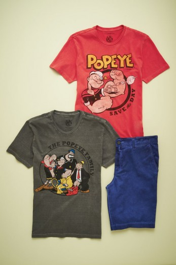 Haja espinafre! A turma do Popeye foi escolhida pra estampar linha de camisetas da Ellus 2nd Floor! Confira os modelos...