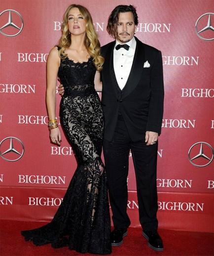 Amber Heard e Johnny Depp, um dos casais mais estilosos de Hollywood! Vem ver quem mais foi no Festival Internacional de Cinema de Palm Springs
