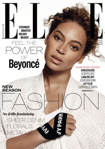 """Olha a Bey na capa da """"Elle"""" UK! Clique na foto pra abrir a galeria e ver mais"""