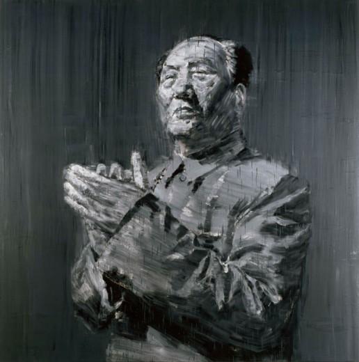 """Essa é a pintura """"Mao"""", de Yan Pei Ming. Clica pra ver mais!"""