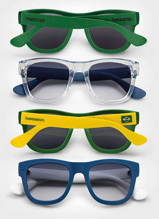 bde6c93af8112 A textura nas pernas dos óculos lembra a sola dos chinelos! Este é o modelo  Paraty
