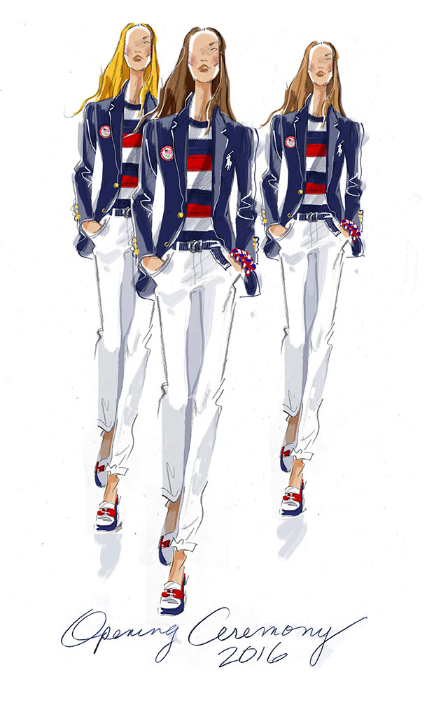 4655d59884 EUA veste Polo Ralph Lauren na abertura das Olimpíadas - Lilian Pacce
