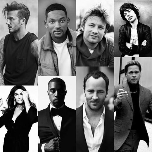 David Beckham, Will Smith,Jamie Oliver,  Mick Jagger, Caitlyn Jenner, Kanye West, Tom Ford ou Brad Pitt - qual tem o estilo do seu pai? Faça o teste e descubra!