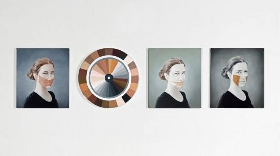 """Trabalho """"Polvo Portraits VI"""", de Adriana Varejão. Clica pra ver mais do que você encontra no Tomie Ohtake!"""