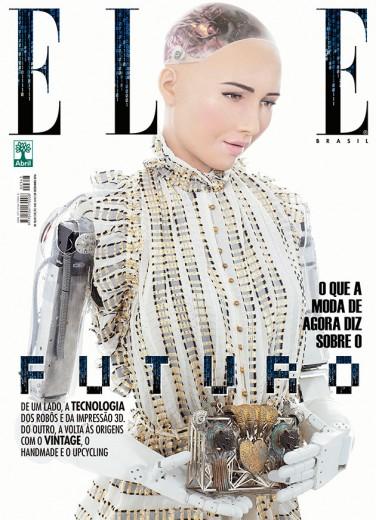 """A robô Sophia é capa da """"Elle"""" Brasil desse mês - clica pra ver mais capas!"""