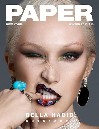 "Morceguíssima: Bella Hadid loira na capa da revista ""Paper"". Clica na foto pra ver mais!"