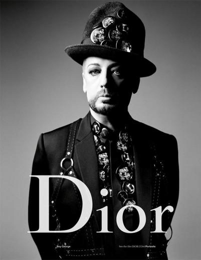 Boy George pra Dior Homme! Vem ver mais da campanha