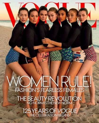 """A capa de março da """"Vogue"""" América - você acha que rolou um Photoshop errado ou não?"""