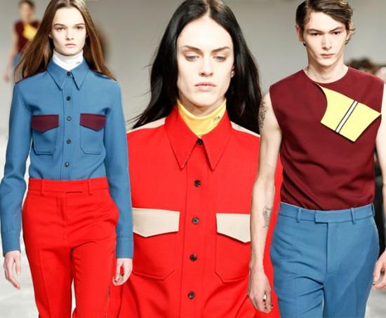 """Uma das marcas que mostrou seu posicionamento foi a Calvin Klein. O desfile de estreia de Raf Simons pra marca teve roupas com as cores da bandeira americana e """"This is not America"""" (Isso não é América, em tradução livre) de David Bowie em sua trilha sonora. Clica pra ver outras marcas que também fizeram ações parecidas"""