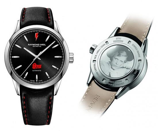 O relógio criado em homenagem a David Bowie é da marca Raymond Weil