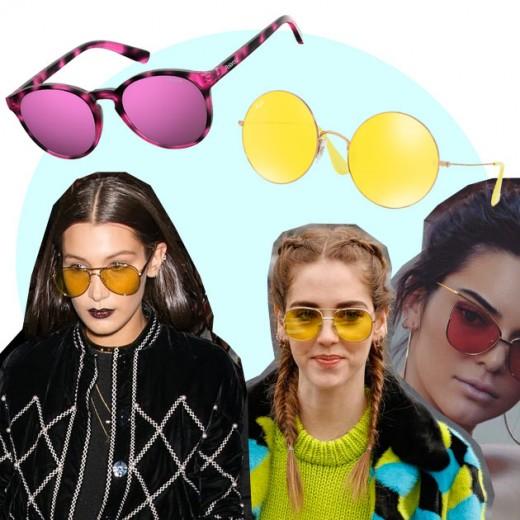 Os óculos de sol com lentes coloridas voltaram com tudo - vem ver mais!