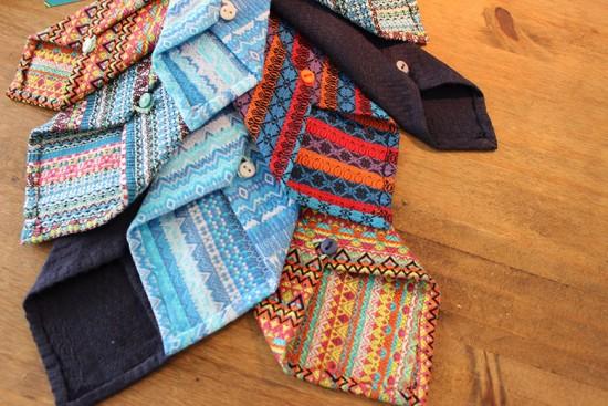Conheça a Svetlana Morbini - ela faz gravatas de sete dobras a partir de jacquard de algodão! Clica pra ver mais