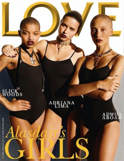 Olha a turma: Slick Woods, Adriana Lima e Adwoa Aboah! A gente adora