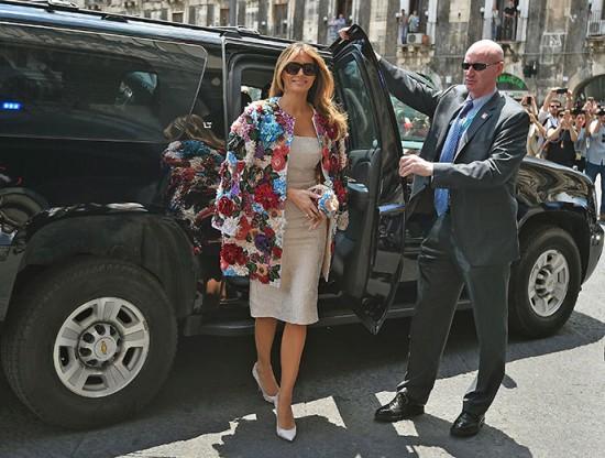 Melania Trump apareceu com look avaliado em cerca de R$ 170 mil - vem ver!
