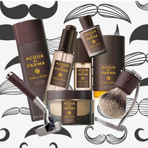 Opções de presentes pra quem tem pai barbudo! Que tal creme pra barbear (R$ 255), gel pra barbear (R$ 156), óleo de barbear (R$ 210), lâmina (R$ 1.400), sérum (R$ 200), pós-barba (R$ 270) e pincel (R$ 1.500)? Seu pai merece! Esses todos são da Acqua di Parma - clica pra ver mais!