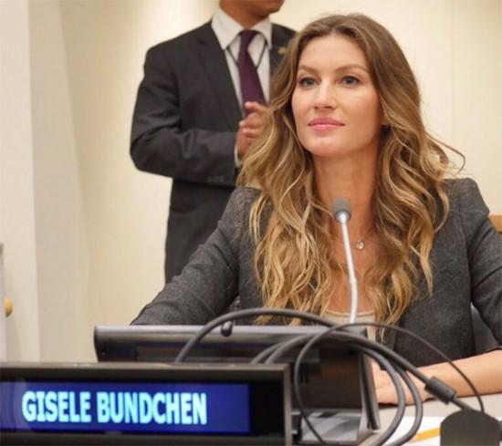 Gisele Budnchen em NY na 72ªAssembleia Geral da ONU