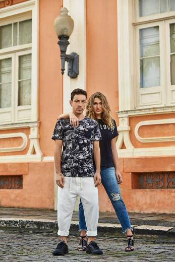 Sasha Meneghel posa com Di Ferrero na campanha nova da Coca-Cola Jeans, que traz peças assinadas por ela