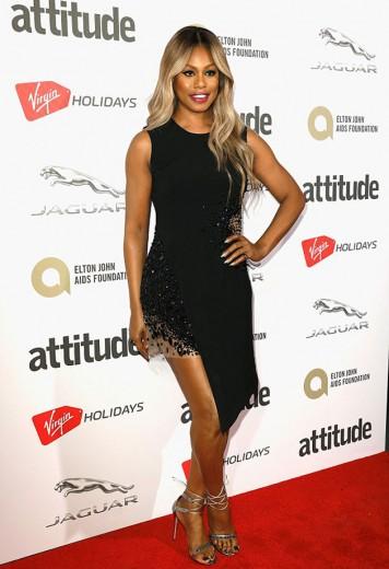 Laverne Cox com o look de Vitor Zerbinato no The Attitude Awards em Londres!