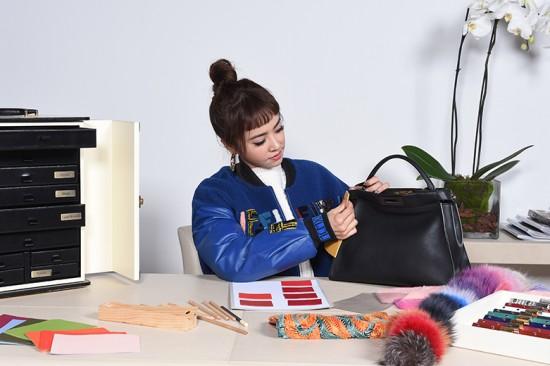 No Hong Kong Peekaboo Project da Fendi, a cantora Jolin Tsai, de Taiwan, deixou sua marca no modelo. Clica pra ver as criações!
