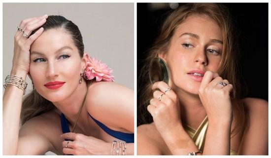 Gisele Bündchen e Marina Ruy Barbosa estão em campanhas de Natal da Vivara. Clica pra ver as fotos do making of!