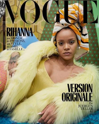 """""""Ela é top, capa de revista""""- 8 vezes Rihanna! Aqui, na """"Vogue"""" Paris - vem ver mais!"""
