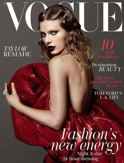 """Taylor Swift é a capa da """"Vogue"""" UK de janeiro de 2018 com seu look mais dark"""