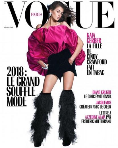 """Kaia Gerber é estrela da """"Vogue"""" Paris"""
