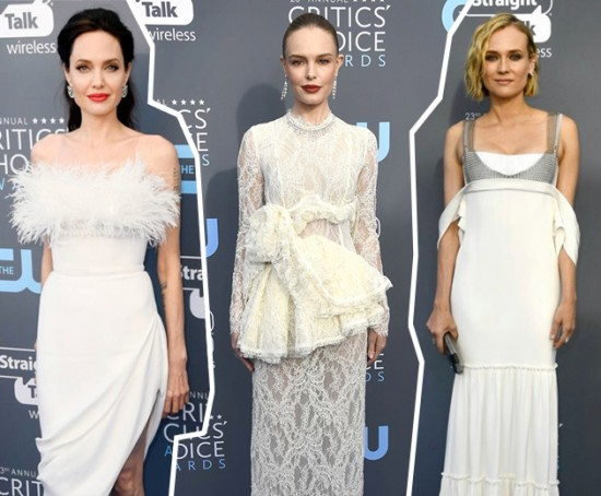 As atrizes e convidadas escolheram tons claros pra premiação - vem ver mais!