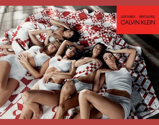 Irmãs Kardashian-Jenner estrelam nova campanha da Calvin Klein - clica pra ver mais