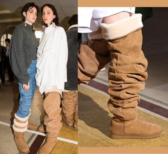 E essa Ugg, hein? Diferentona... Mas se a Rihanna usar, será que a moda pega? Continua na galeria pra ver mais!