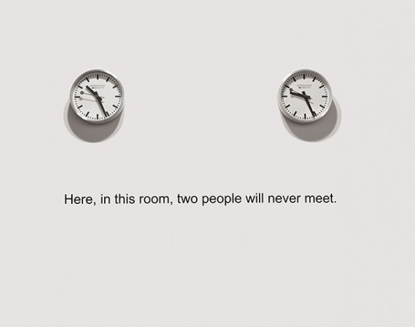"""Here, in this room, two people will never meet"" – David Lamelas"