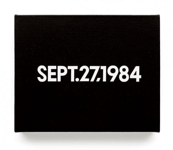 """Sept.27, 1984"" – On Kawara"