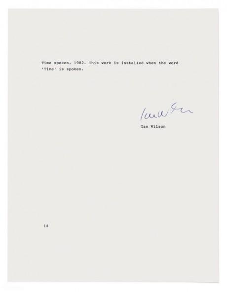 """""""Time Spoken"""" – Ian Wilson"""