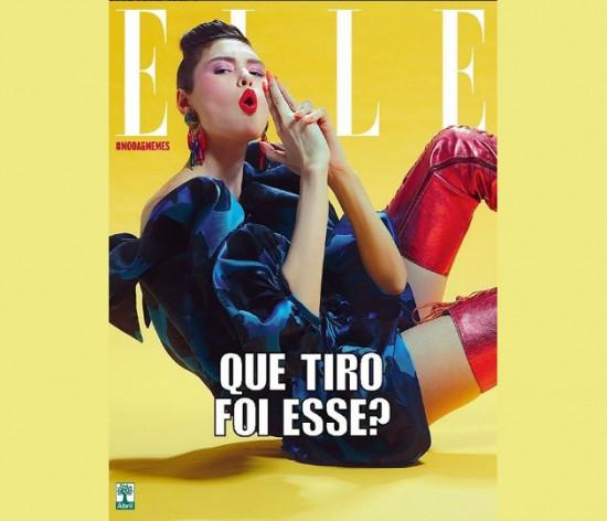 """A top Angélica Erthal encarna """"Que tiro foi esse"""" hit de Jojo Toddynho pra """"Elle Brasil"""" - clica pra ver mais!"""